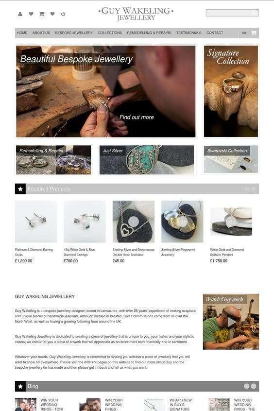 Guy Wakeling Jewellery Website by GrowTraffic