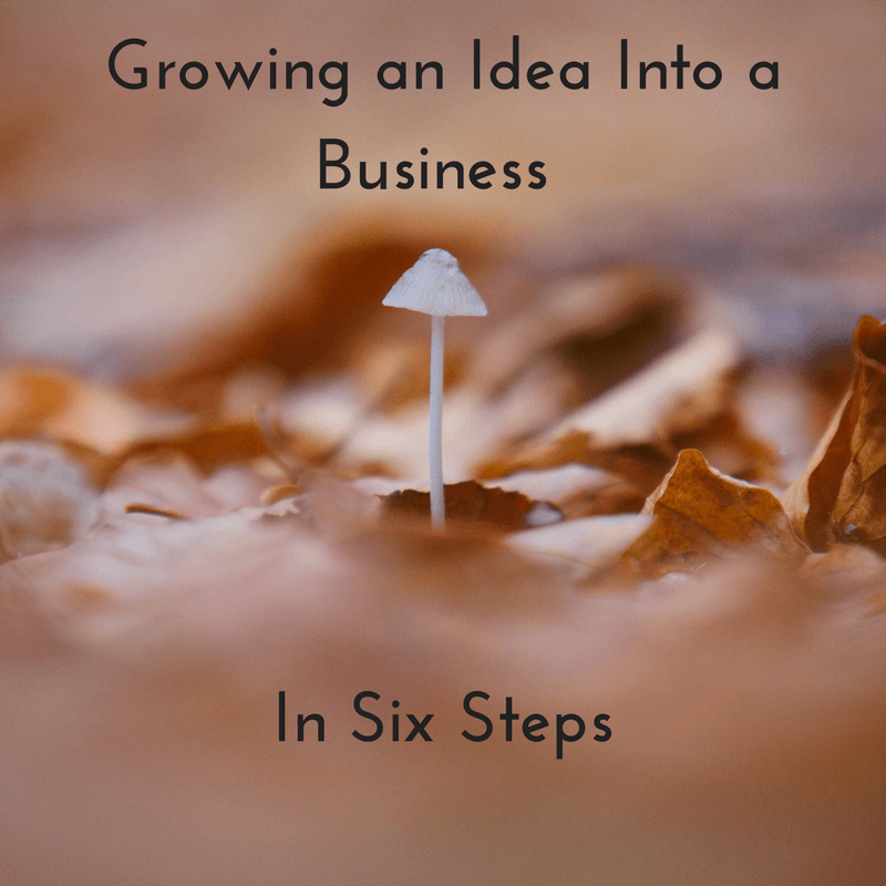 Images illustrating a blog by SEO consultants, GrowTraffic, on how to turn an idea into a real business.