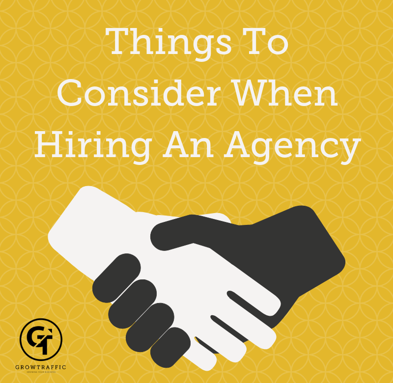 Things to consider when hiring an agency