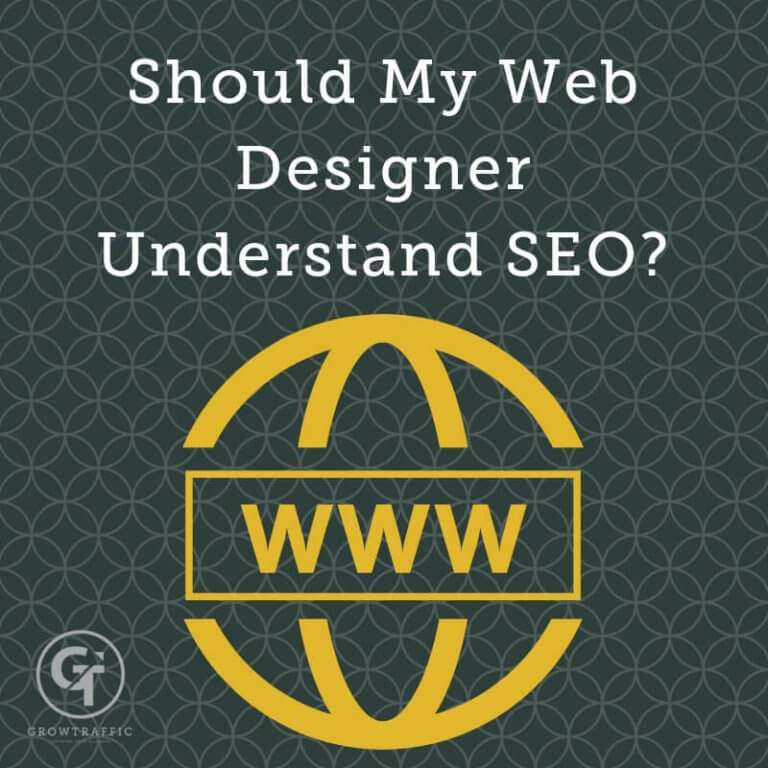 Should My Web Designer Understand SEO Title Graphic