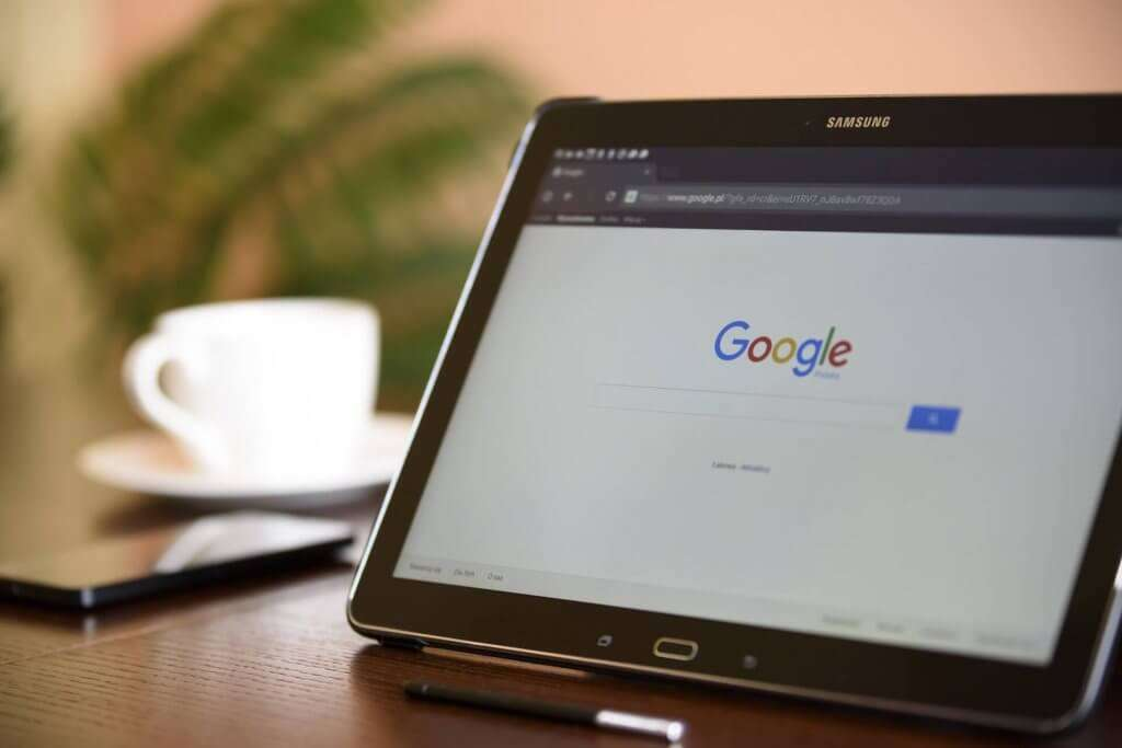 Laptop with Google search on display for Grow Traffic blog How Do I Know If My Keywords Are Still Relevant