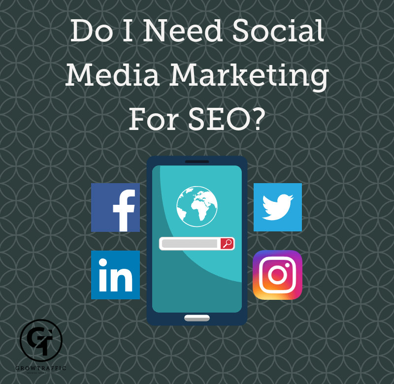 title graphic for GrowTraffic blog entitled Do I need social media marketing for SEO