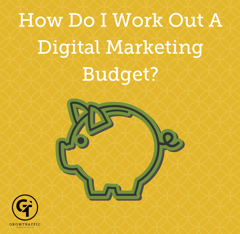 Title graphic for GrowTraffic blog entitled How Do I Work Out A Digital Marketing Budget?