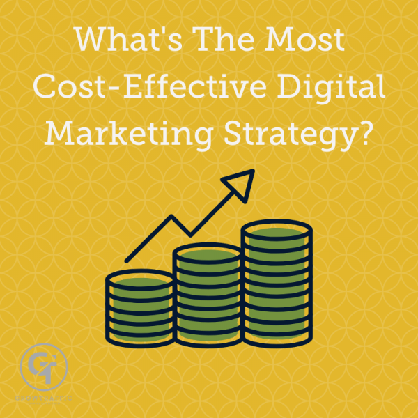 Title graphic for GrowTraffic blog entitled whats the most cost-effective digital marketing strategy?