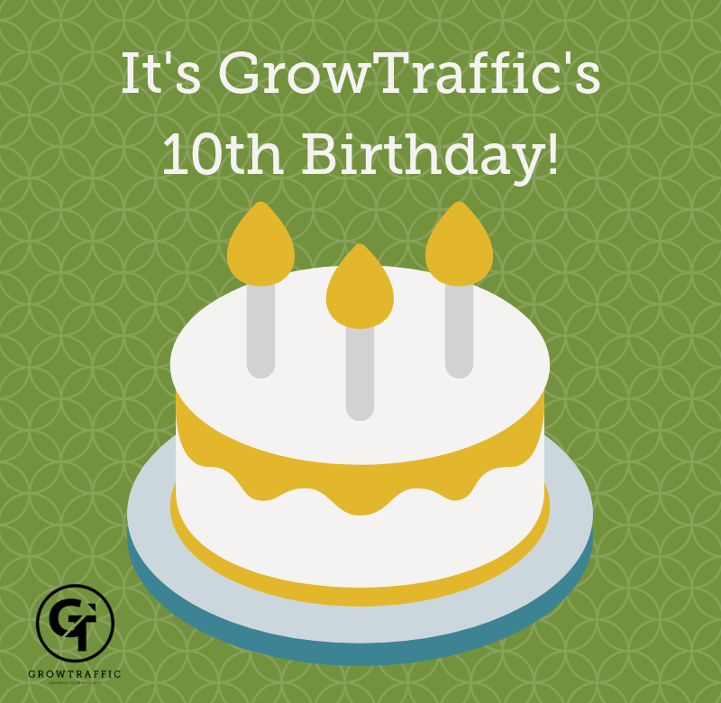 It's GrowTraffic's 10th Birthday!