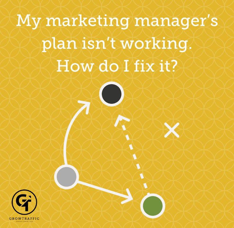 My marketing manager's plan isn't working. How do I fix it?