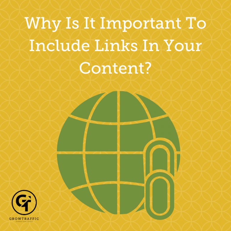Why Is It Important To Include Links In Your Content?