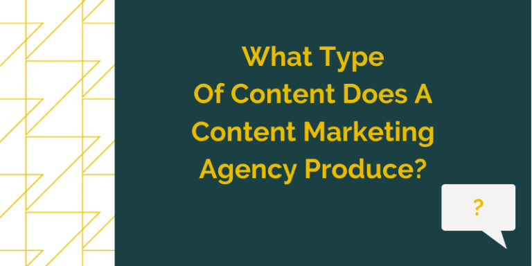 the image is a GT Blog Header Titled What Type Of Content Does A Content Marketing Agency Produce?