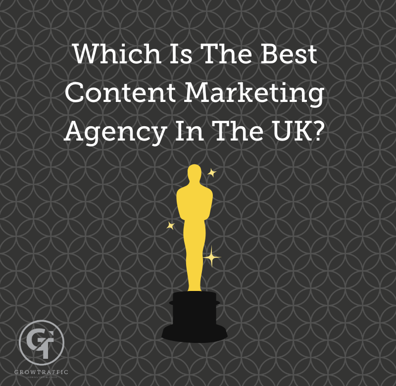 the image is a GT Blog Titled Which Is The Best Content Marketing Agency In The UK