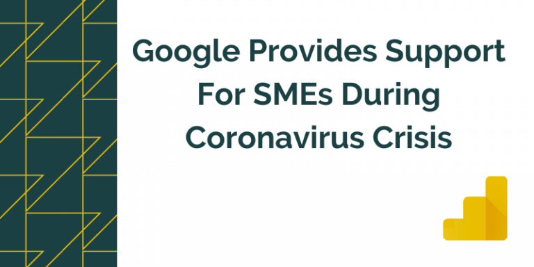 Title graphic for GrowTraffic blog about Google providing support to SMEs amid coronavirus crisis