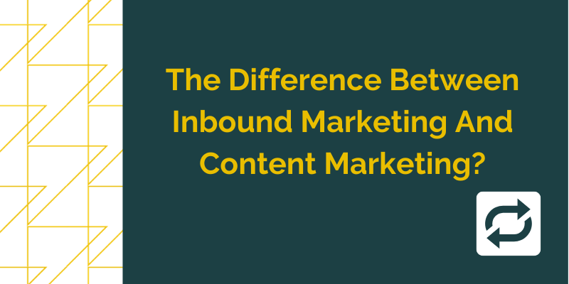The image is a Grow Traffic blog titled What's The Difference Between Inbound Marketing And Content Marketing?
