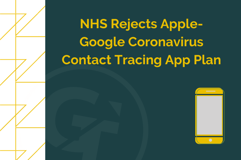 NHS Rejects Apple-Google Coronavirus Contact Tracing App Plan
