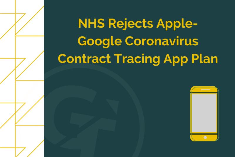 NHS Rejects Apple-Google Coronavirus Contract Tracing App Plan