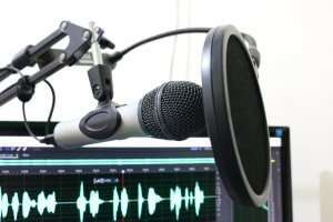 image of microphone for blog on does content marketing work
