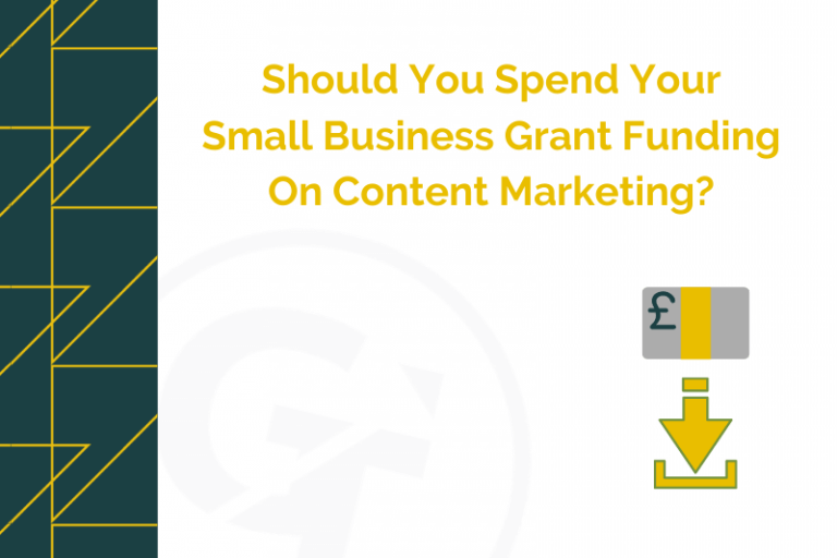 Should You Spend Your Small Business Grant Funding On Content Marketing