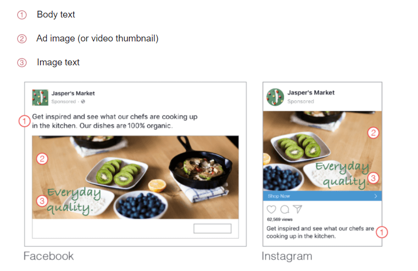 Facebook And Instagram Ads Image Text