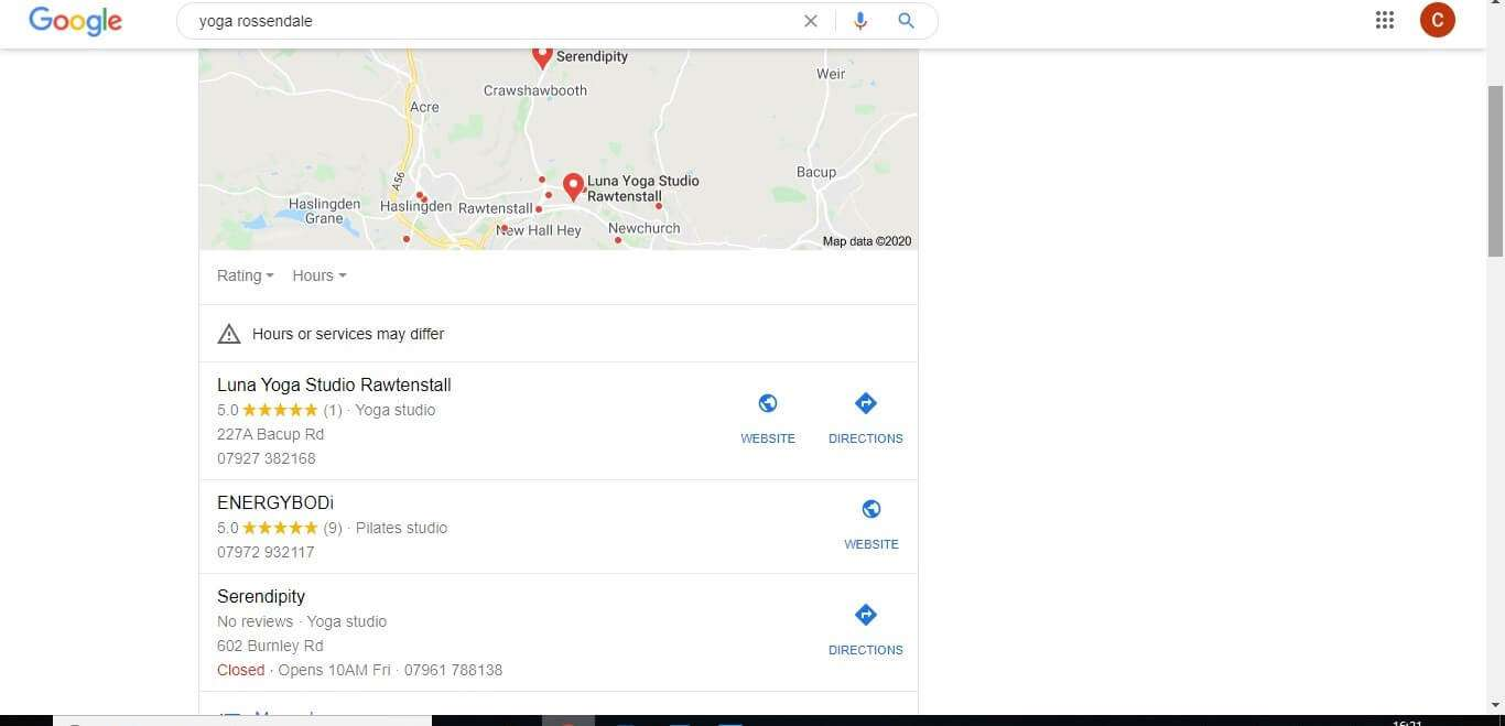 google search with local SEO