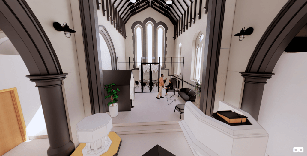 Bacup Christ Church 3D Render Looking East