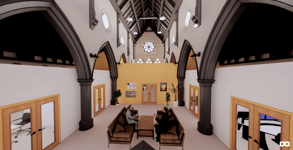 Bacup Christ Church 3D Render Looking West