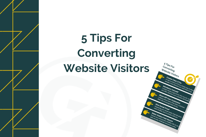 infographic showing how to convert website visitors