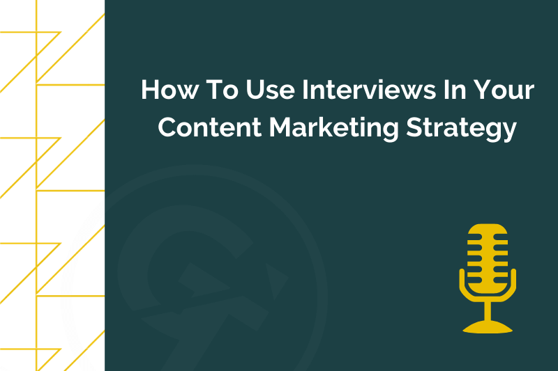 Title graphic for GrowTraffic blog about using interviews in content marketing
