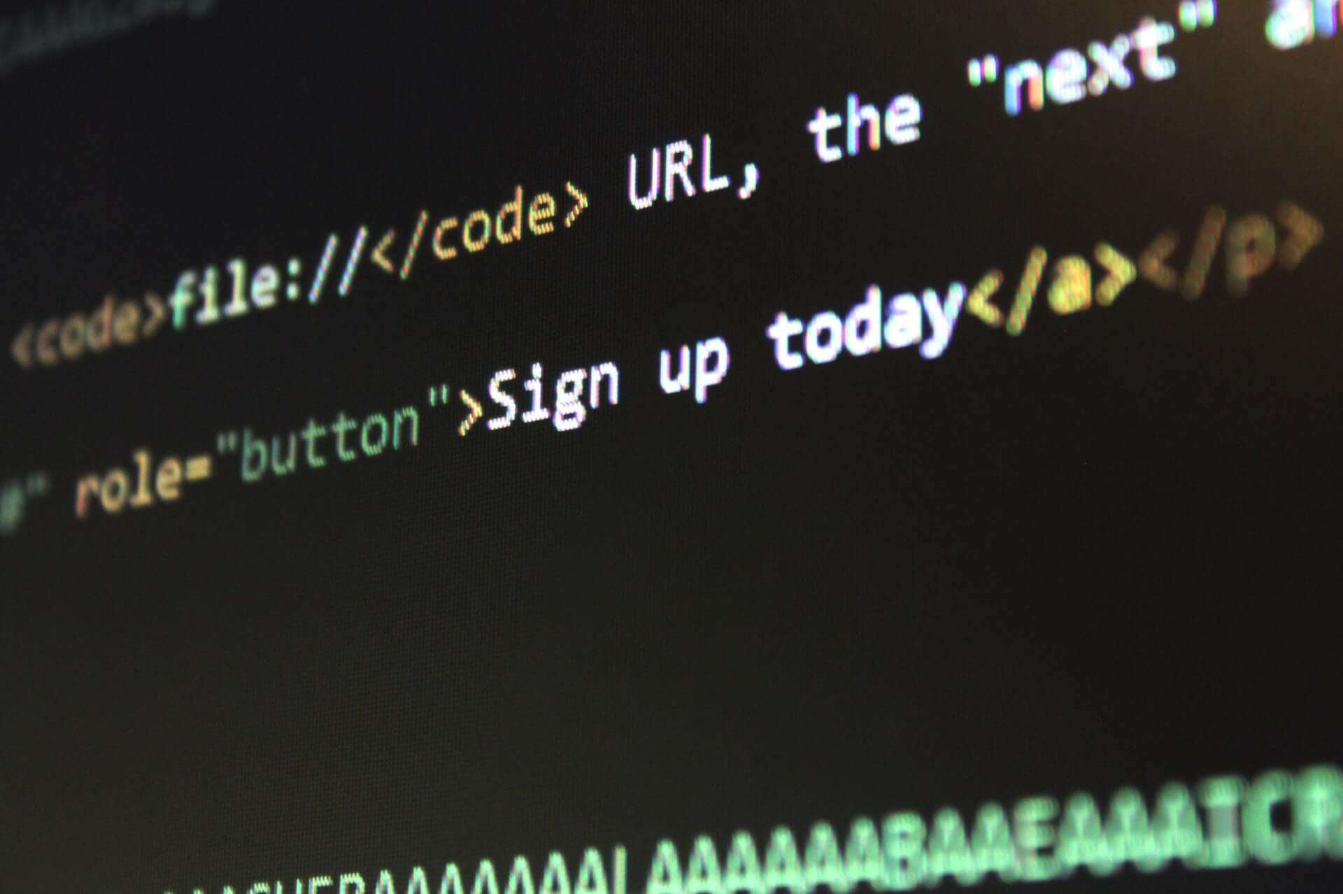 code for building a website