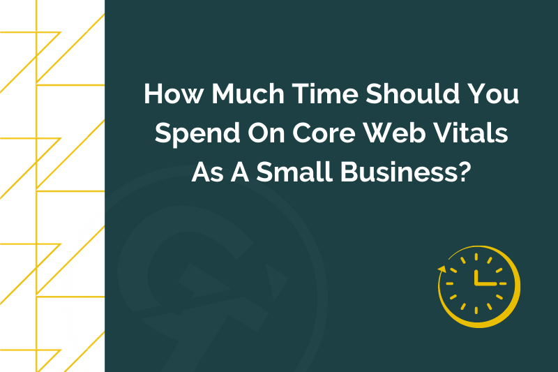 Title graphic for GrowTraffic blog about core web vitals