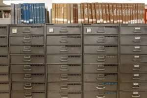 A collection of filing cabinets