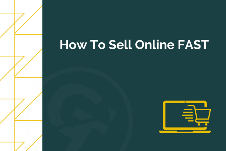 Title graphic for GrowTraffic blog about how to sell online fast