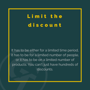 Limit the discount