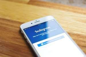 A phone displaying the instagram app