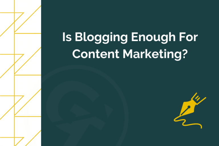 Title graphic for GrowTraffic blog about whether blogging is enough for content marketing