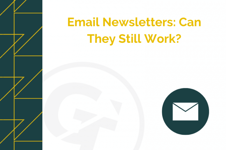 Title graphic for GrowTraffic blog about email newsletters
