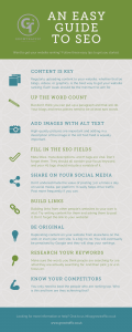 GrowTraffic infographic on with an easy guide to SEO