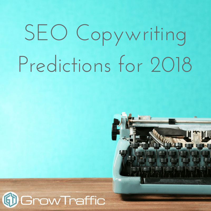SEO Copywriting Predictions for 2018