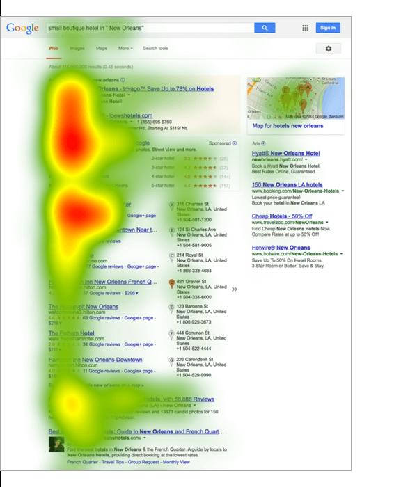Google SERP Results Heat Map