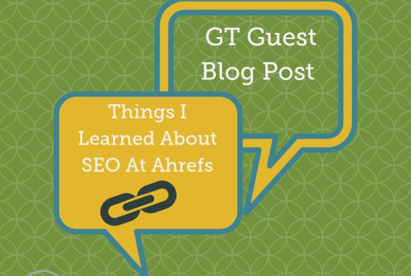 Ahrefs guest blog post