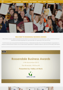 Rossendale Business Awards web design by GrowTraffic