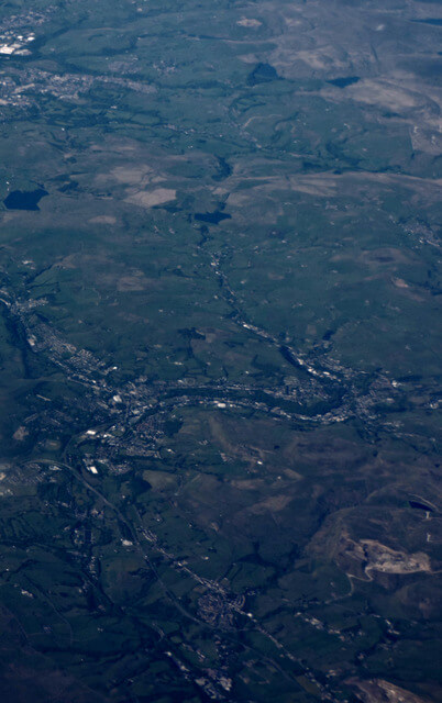 Rossendale from the air