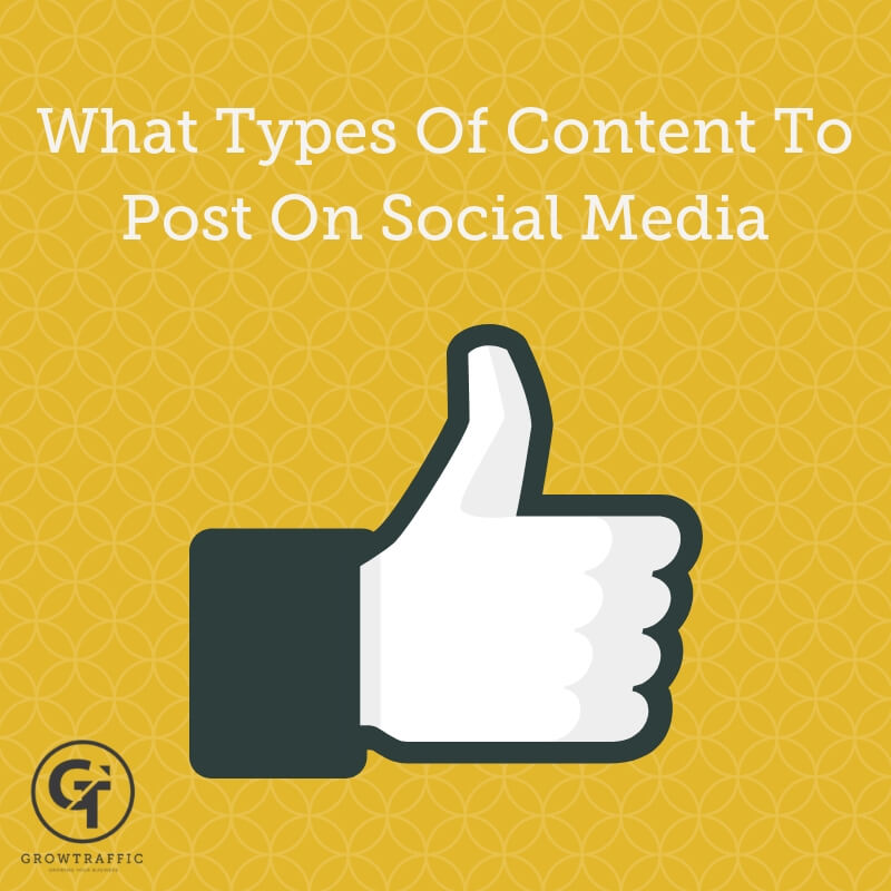 What types of content should i create for social media title graphic.