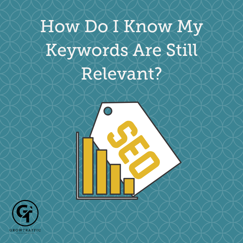 Title graphic for Grow Traffic blog How Do I Know If My Keywords Are Still Relevant?