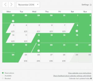 Updating The Calendar to Optimise Your AirBNB listing